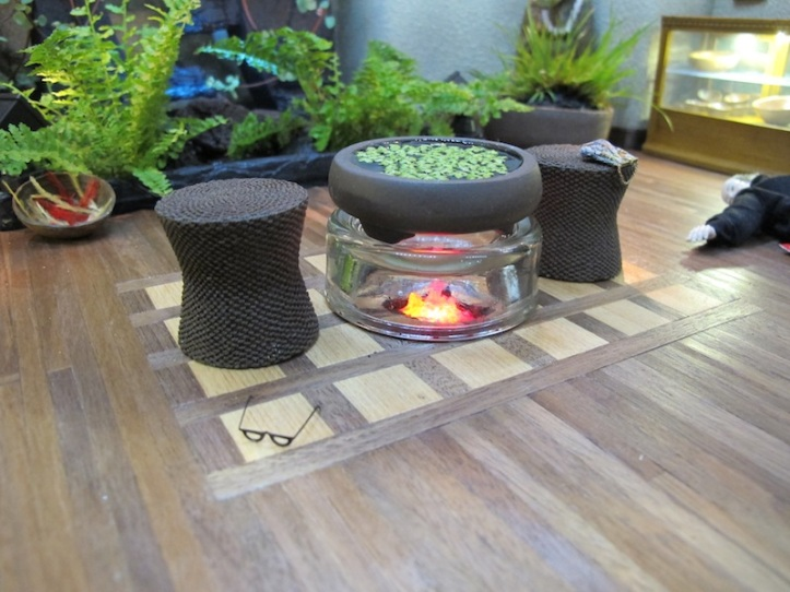 Fire and Water- the fire pit and lemna bowl.