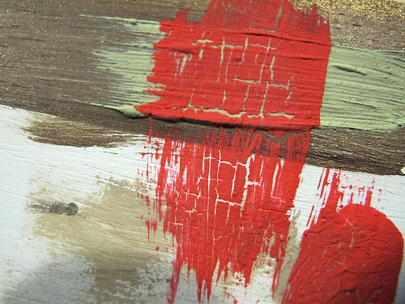 How to make crackle paint with elmers glue