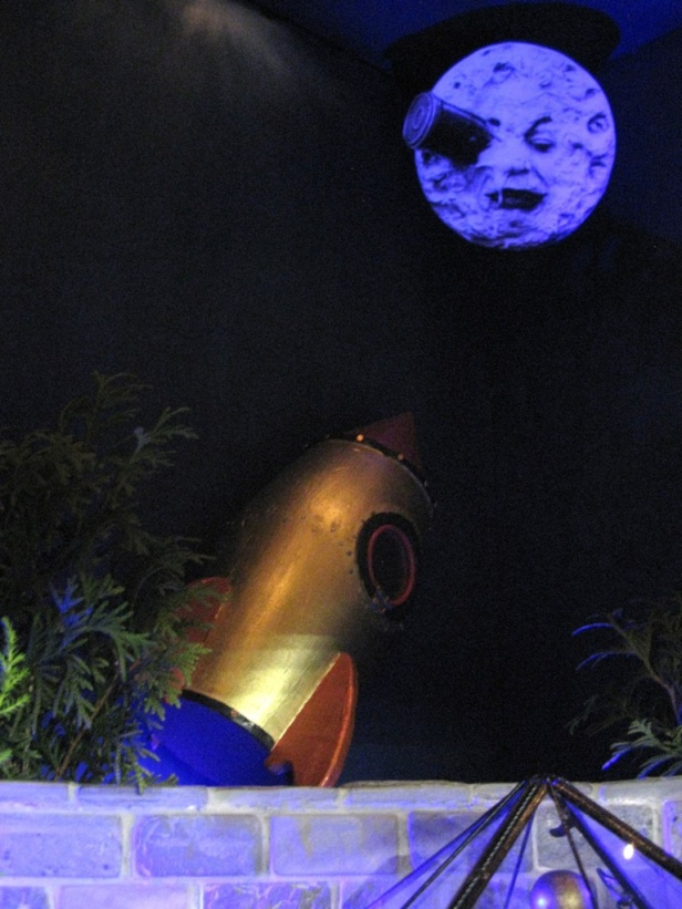 "Rocket and Moon from Georges Méliès ""A Trip to the Moon"""