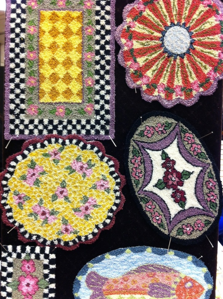 Carol Sherry was a delight to talk to and she convinced me to but one of the kits to make punch needle rugs. Can't wait to try it.