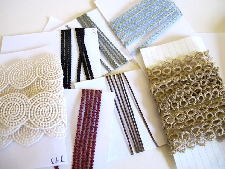 Jo Anne Roberts trims and laces