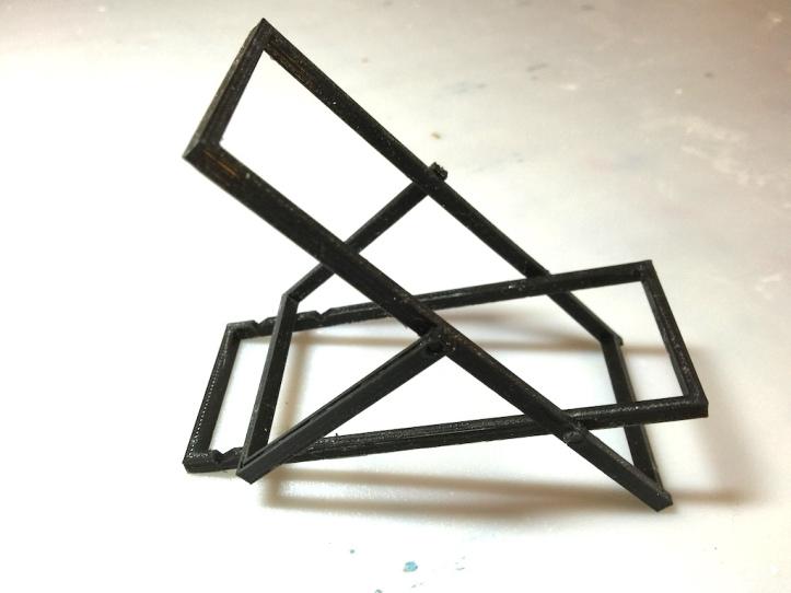 3Dprinteddeckchairblack