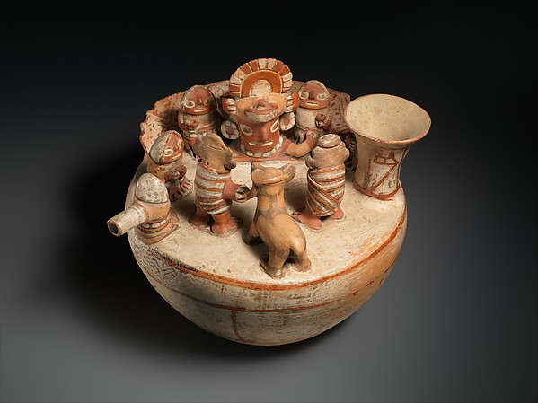 Recuay Ritual Scene Vessel, 4th–7th century Recuay, Ceramic, pigment; H. 8 1/4 x W. 9 in. (21 x 22.9 cm) The Metropolitan Museum of Art, New York, The Michael C. Rockefeller Memorial Collection, Purchase, Nelson A. Rockefeller Gift, 1966 (1978.412.153) http://www.metmuseum.org/Collections/search-the-collections/310601