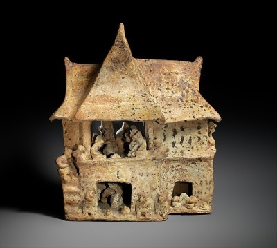 House with Occupants, 100 B.C.–A.D. 200 Nayarit,  Ceramic; H. 12 X W. 10 1/4 x D. 6 3/4 in. (30.5 x 26 x 17.1 cm) The Metropolitan Museum of Art, New York, Promised Gift of Joanne and Andrall Pearson (TR.95.2015) http://www.metmuseum.org/Collections/search-the-collections/319227