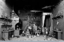 Medieval Alchemist at work